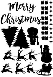 Raamsticker aanvulling Kerst eenmalig gebruik