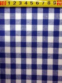 Kobalt blauw wit ruit