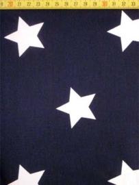 Donkerblauw met witte ster