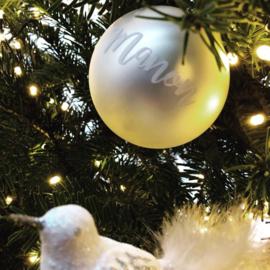 Naamstickers voor kerstballen