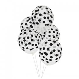 Ballonnen Confetti Zwart