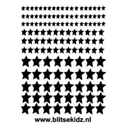 Stickervel kerststickers sterren
