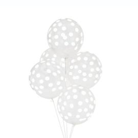 Ballonnen Confetti Wit