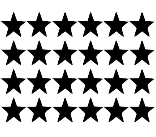Stickervel ster