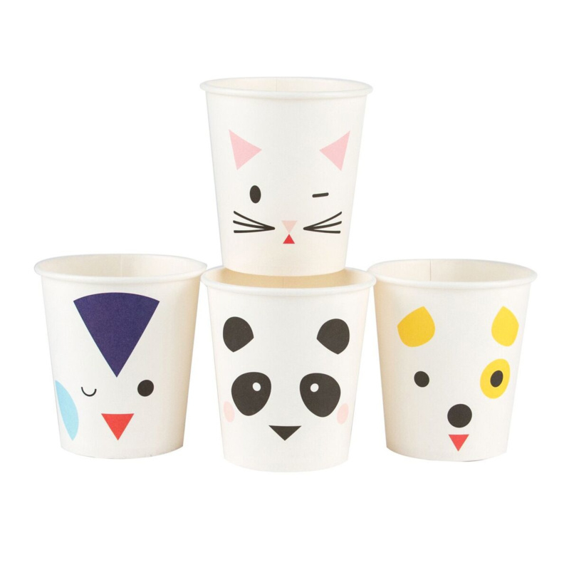 Papieren bekers My little day Party Animals