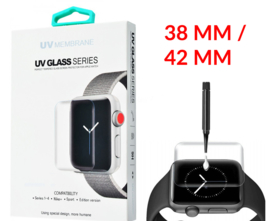 Apple Watch 38 / 42 MM UV Liquid Glue 3D Tempered Glass Protector