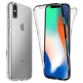 iPhone X / Xs 360° Full Cover Transparant TPU Hoesje