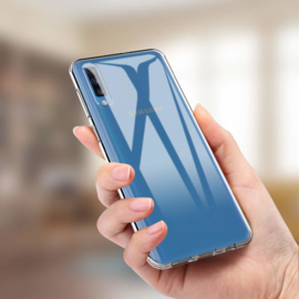 Galaxy A70 Premium Transparant Soft TPU Hoesje