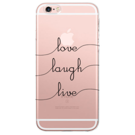 iPhone 6 Plus / 6S+ Soft TPU Hoesje Love Laugh Life Print