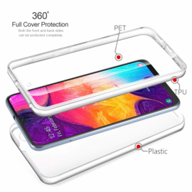 Galaxy A50 360° Ultra Clear Hybrid PC + TPU Hoesje
