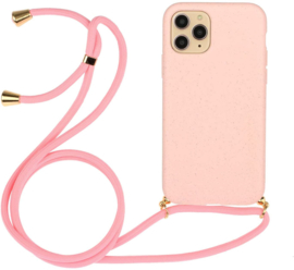 iPhone 11 Pro Crossbody TPU Hoesje met Koord Roze