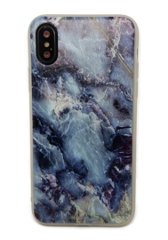 iPhone X / Xs Soft TPU Hoesje Marmer Design Dark & Wild