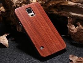 Galaxy S5 Echt Houten Hoesje - Wood Case - 5 Houtsoorten