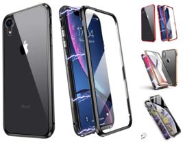 iPhone Xr 360º Magnetisch Hoesje Dubbelzijdig Glas