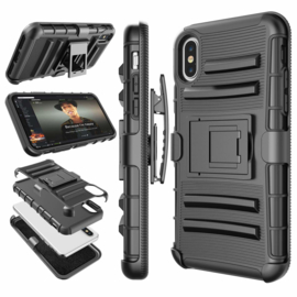 iPhone Xs Max Heavy Duty Tough Armor Hoesje 3 in 1