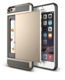 iPhone 5 / 5S / SE Slide Armor Hoesje Met Pashouder