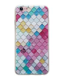 iPhone 7 / 8 3D Reliëf Hoesje Lichtgekleurde Ruiten