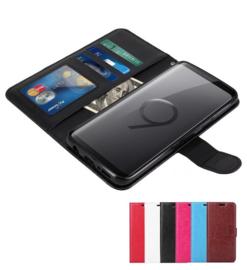 Galaxy S9 Plus Leren Portemonnee Hoesje Met Pasfotovakje
