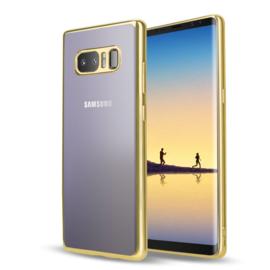 Galaxy Note 8 Soft TPU Hoesje Met Coating Goud / Zilver / Grijs