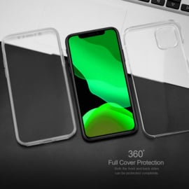 iPhone 11 Pro Max 360° Ultra Clear Hybrid PC + TPU Hoesje