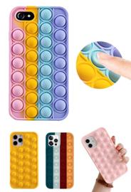 iPhone 7 / 8 / SE 2020 Pop It Fidget Toy Hoesje Soft TPU