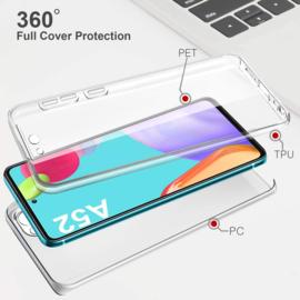 Galaxy A52 360° Ultra Clear Hybrid PC + TPU Hoesje