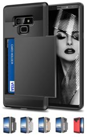 Galaxy Note 9 Slide Armor Hoesje Met Pashouder