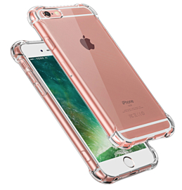 Iphone 6 / 6S Transparant Soft TPU Air Cushion Hoesje