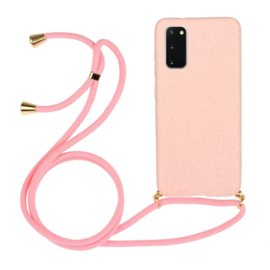 Galaxy Note 20 Ultra Crossbody TPU Hoesje met Koord Roze