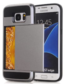 Galaxy S7 Edge Slide Armor Hoesje Met Pashouder