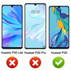 Huawei P30 Full Cover Full Glue Tempered Glass Protector