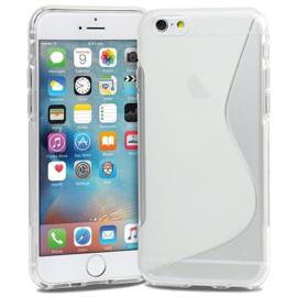 Iphone 6 / 6S S-Line TPU Hoesje Transparant / Kleur