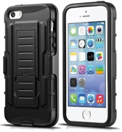 Iphone 5 / 5S / SE Heavy Duty Tough Armor Hoesje 3 in 1