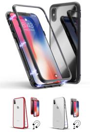 iPhone Xs Max Magnetisch Voor + Achter Hoesje + Tempered Glass
