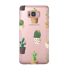 Galaxy S8 Plus Soft TPU Hoesje Cactus Print