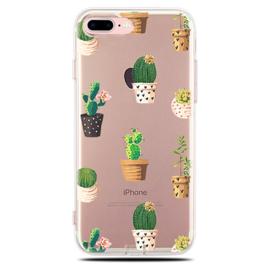 iPhone 7 Plus / 8 Plus Soft TPU Hoesje Cactus Print