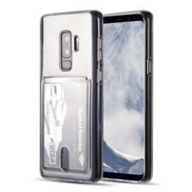 Galaxy S9 Plus Transparant TPU Hoesje Met Pasjesvakje