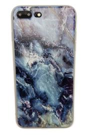 Iphone 7 Plus / 8 Plus Soft TPU Hoesje Marmer Dark & Wild