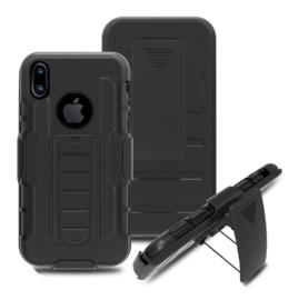 iPhone X / Xs Heavy Duty Tough Armor Hoesje 3 in 1