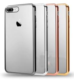 iPhone 7 Plus / 8 Plus Soft TPU Hoesje Met Coating Goud / Zilver / Zwart