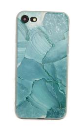 Iphone 7 / 8 Soft TPU Hoesje Marmer Design Azuurblauw
