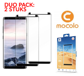 2 STUKS Galaxy S9 Mocolo Premium 3D Case Friendly Tempered Glass Protector