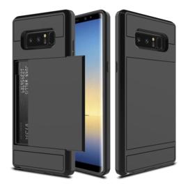 Galaxy Note 8 Slide Armor Hoesje Met Pashouder