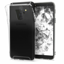 Galaxy A6 Plus (2018) Premium Transparant Soft TPU Hoesje
