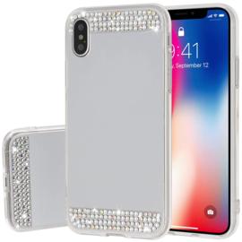 iPhone Xs Max Bling Spiegel Hoesje Met Strass-Steentjes