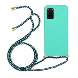 Galaxy S20 Plus Crossbody TPU Hoesje met Koord Mint