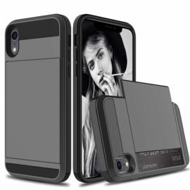 iPhone Xr Slide Armor Hoesje Met Pashouder