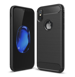 iPhone X / Xs TPU Slim Brushed Armor Case Hoesje