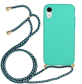 iPhone Xr Crossbody TPU Hoesje met Koord Mint