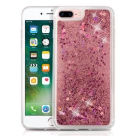 Iphone 7 Plus / 8 Plus TPU Vloeibaar Glitter Hoesje met Sterretjes
